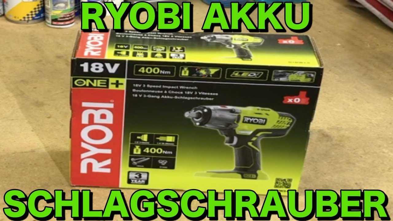 unboxing ryobi akku schlagschrauber r18iw3-0 | krisautocare - youtube