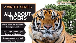 2 Minute Series:  Tiger Census || Global tiger Forum || Tiger Range Countries || Conservation Status