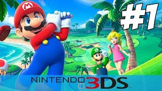 Mario Golf World Tour (3DS) Gameplay Part 1 - Match Play