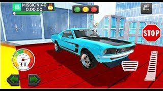 Roof Jumping Car Parking Games - Stunts Car Driver Games - Android Gameplay Video #4