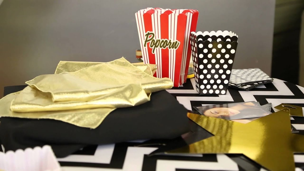 theme tittle hollywood decor decorations simple moviepulse themed me