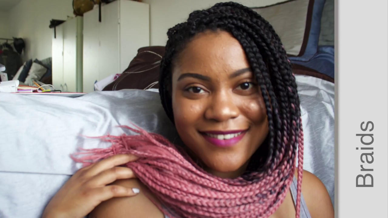 Easy Install Box Braids For Beginners Ombr 233 Pink Youtube