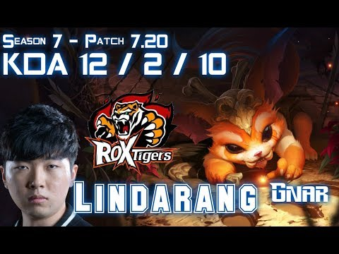 ROX Lindarang GNAR vs SINGED Top - Patch 7.20 KR Ranked