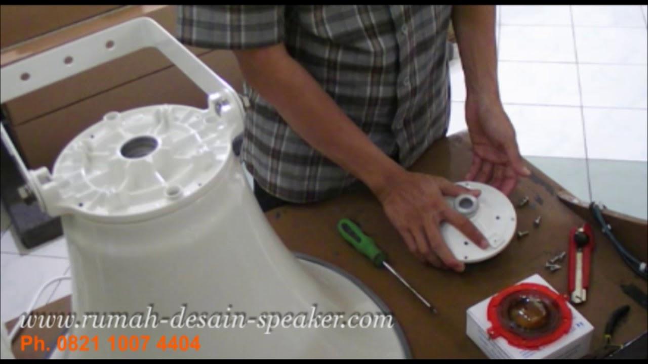 cara pasang spul toa 50 watt zg 30db pada horn speaker zh 652md youtube. Black Bedroom Furniture Sets. Home Design Ideas