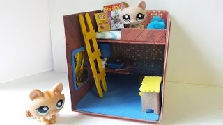 How to Make a Cute LPS Bedroom for Boy or Girl: Dollhouse DIY