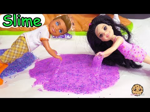 Does It Work ? ! Galaxy Space Glitter Slime Putty Craft Video with Barbie