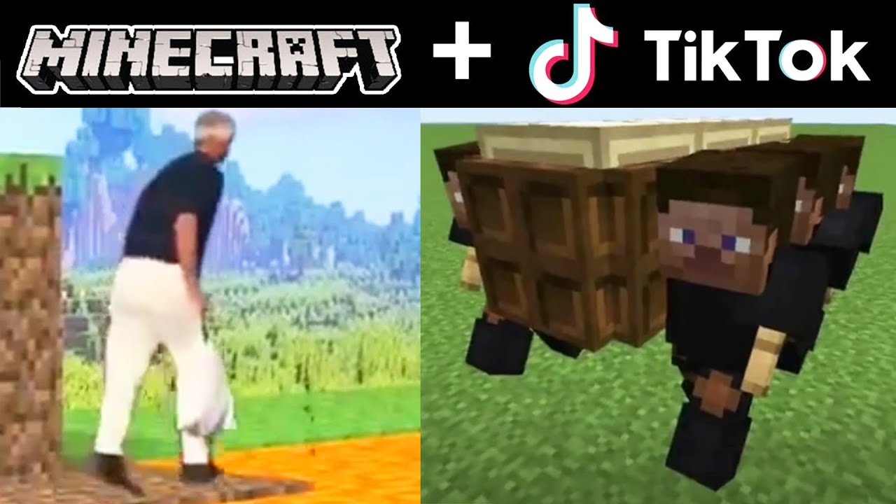 MINECRAFT AND TIK TOK COMPILATION FUNNY MOMENTS #09