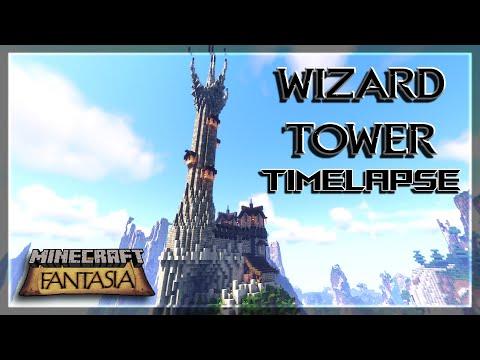Wizard Tower Timelapse | Minecraft Fantasia