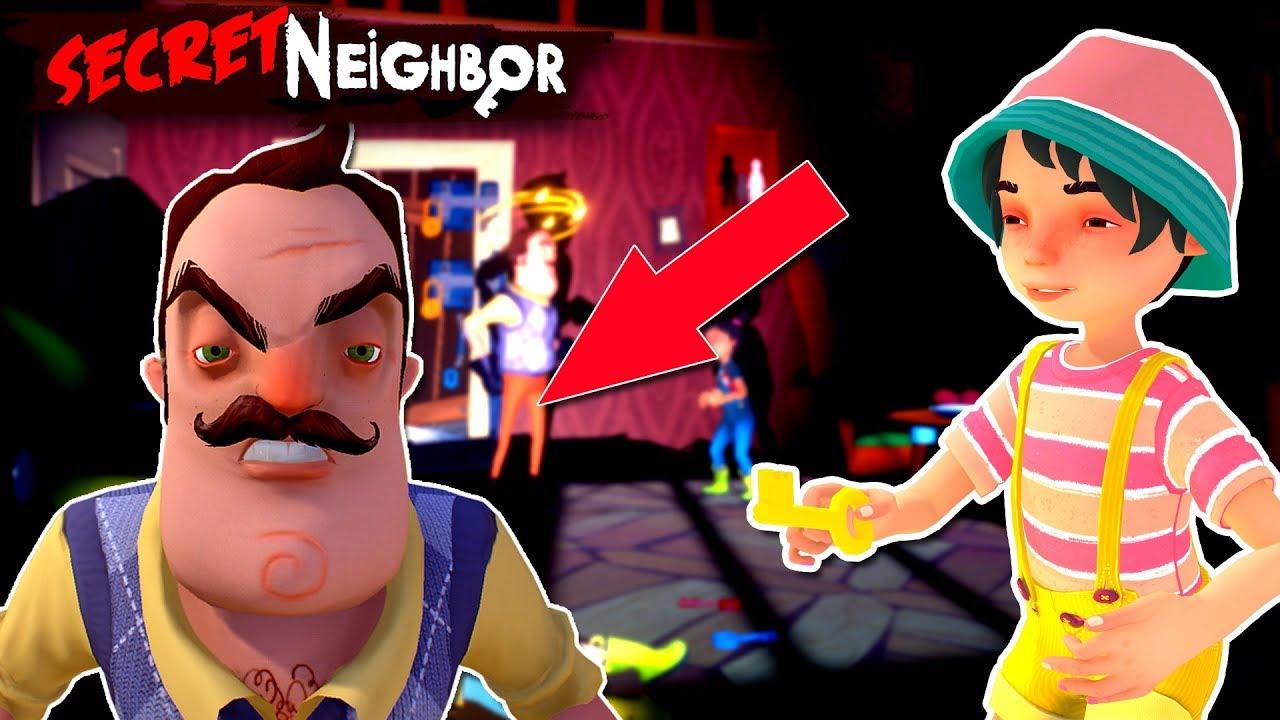 secret neighbor | update de halloween ! - youtube