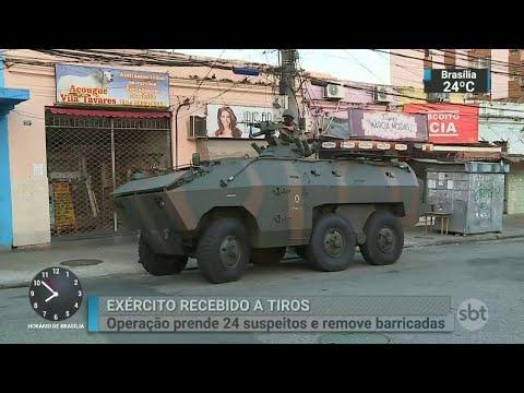 No Rio, homens do Exército são recebidos a tiros durante operação | SBT Brasil (27/03/18)