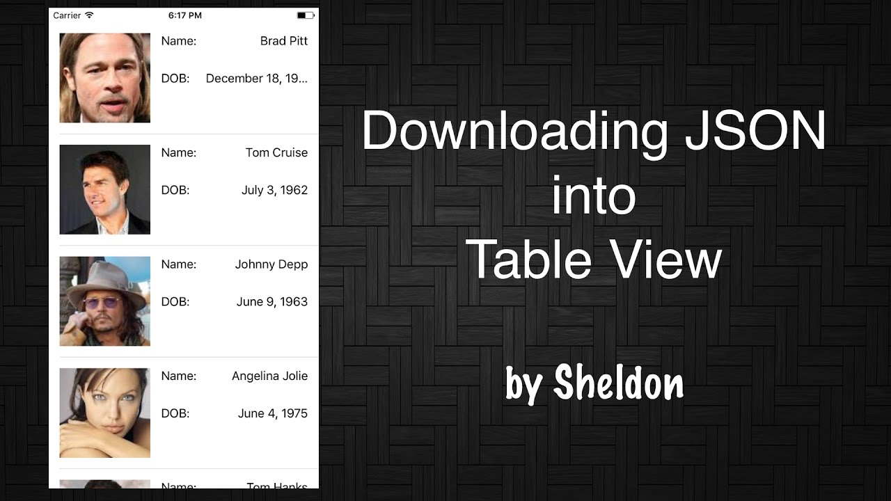 iOS Tutorial Downloading JSON into Table View in Swift 3
