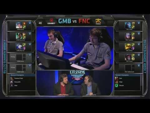 Gambit Gaming (GMB) vs Fnatic (FNC) Jungle Karma vs Aatrox   EU LCS Summer 2013 W7D1   Full Game HD