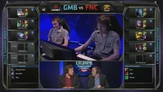 Gambit Gaming (GMB) vs Fnatic (FNC) Jungle Karma vs Aatrox | EU LCS Summer 2013 W7D1 | Full Game HD