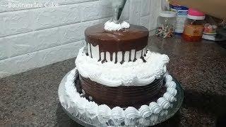 Decorating Simple Simple Cake - Two-tiered chocolate (44) Trang Trí Bánh Kem Sinh Nhật Đơn Giản