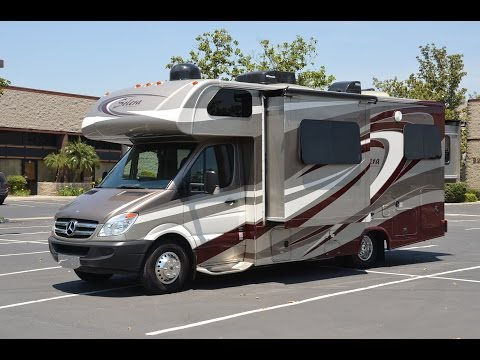 For-Sale 2014-2015 C-class Mercedes Benz Turbo Diesel RV Tour Forest River Solera 24D Review Blog