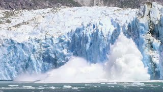 Shocking huge glacier wall collapse big wave alaska 2k17 | shockwave