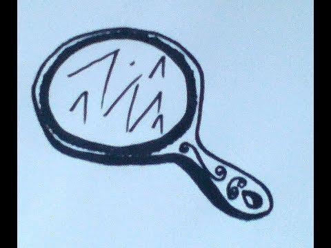 Как нарисовать зеркало карандашом поэтапно