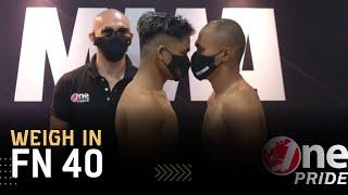 Jeka Saragih VS Agung Maulana || Weigh In One Pride MMA FN-40
