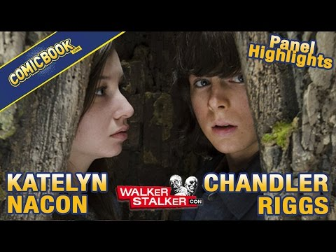 Chandler Riggs and Katelyn Nacon Walker Stalker Con Panel Highlights