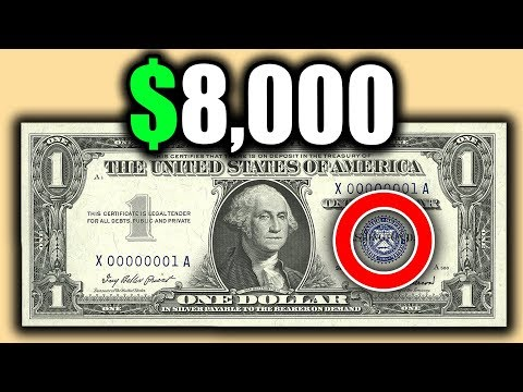 RARE BLUE SEAL DOLLAR BILLS WORTH MONEY - SILVER CERTIFICATE VALUES