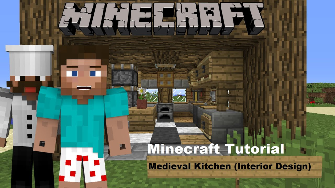 Minecraft Tutorial Medieval Kitchen Interior Design