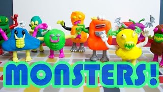 Scooby Doo Play Doh Monsters!  Scooby Doo Morph-a-Monster Pods Part 2!