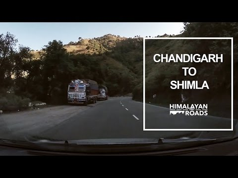 Full Drive from Chandigarh to Shimla - Turn by Turn #1
