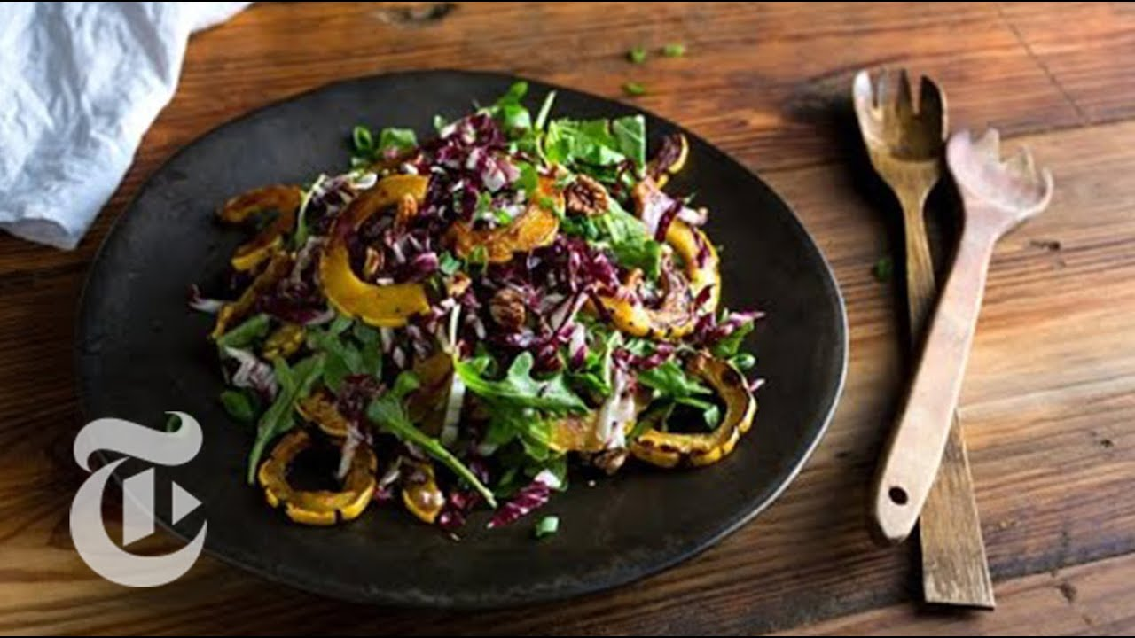 Roasted Delicata Squash And Arugula Salad