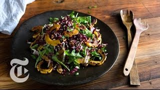 Roasted Delicata Squash and Arugula Salad  Melissa Clark Recipes