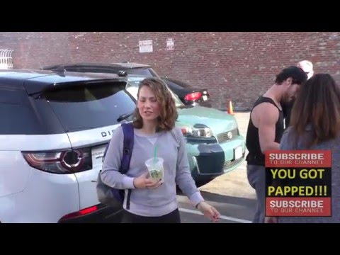 Val Chmerkovskiy and Ginger Zee talk about the weather at Dancing With The Stars Rehearsal Studio in