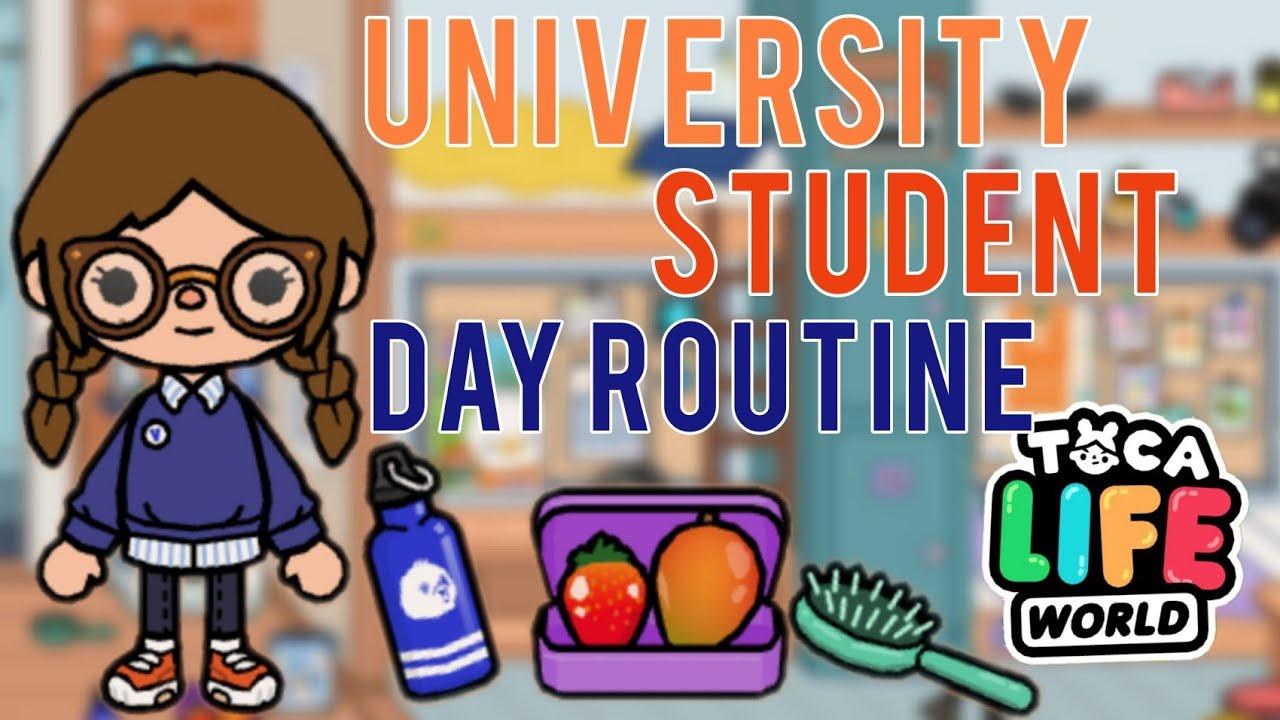 University Student Day Routine   Toca Life World