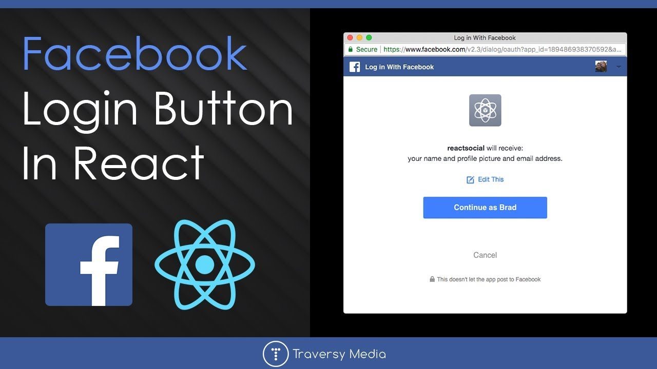 Facebook Login Button In React