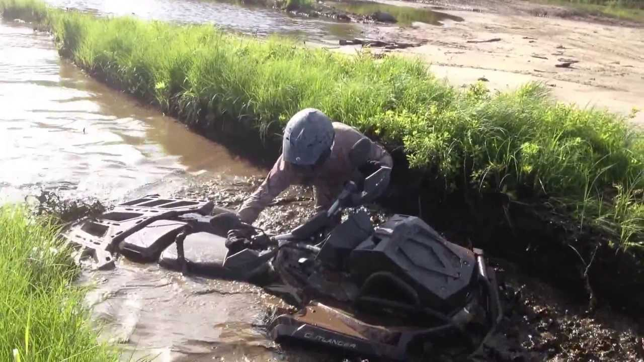 Can Am Outlander 1000 Xmr >> BRP 2013 Can-Am Outlander Xmr 1000 tested on deep mud water - YouTube