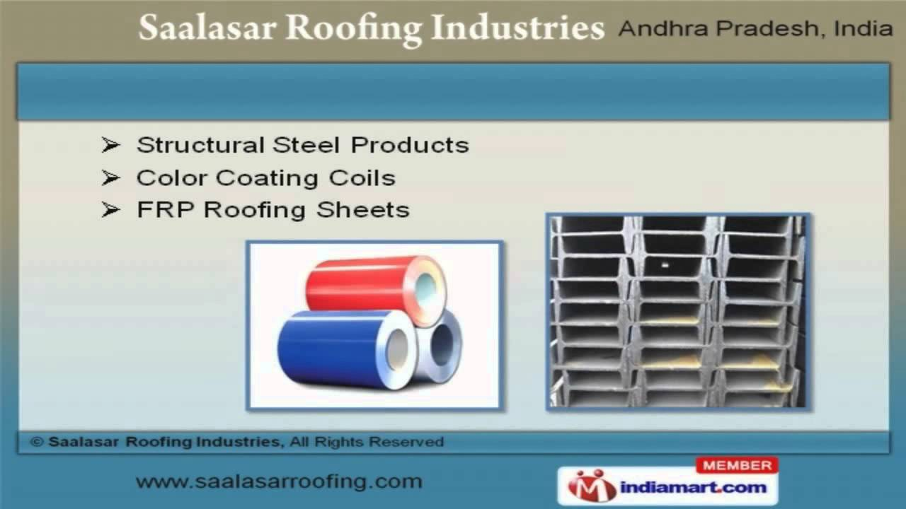colour coated sheets in hyderabad : Colour Coated Sheets Manufacturers In Hyderabad Industrial Sheets And Roofing Accessories By Saalasar Roofing Industries