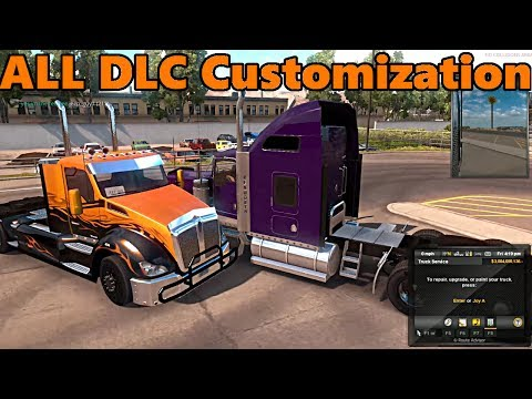 American Truck Simulator | FULL CUSTOMIZATION With ALL DLC in MULTIPLAYER with TC and JeepGuy |