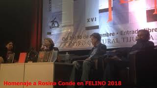 Homenaje a Rosina Conde en FELINO 2018
