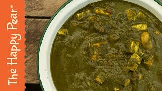 """Vegan Palak """" Paneer """"   Indian Spinach Curry   THE HAPPY PEAR"""