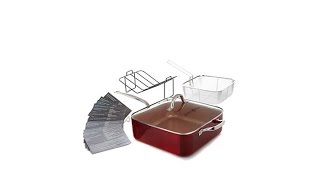 Simply Ming 7.5qt Jumbo Pan with Fryer Basket and Free R...
