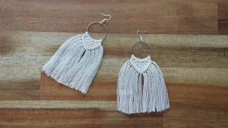 How to Make Macramé Earrings