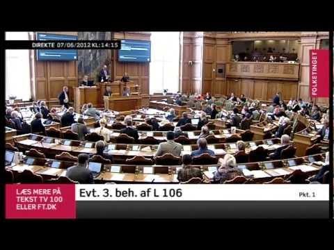 Afstemning i Folketinget L106 og L105