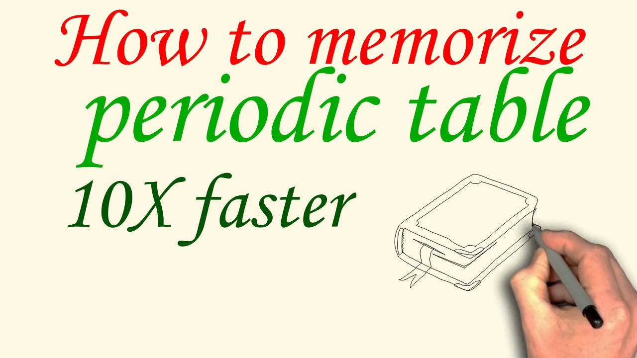 How to memorize periodic table 10x faster youtube how to memorize periodic table 10x faster gamestrikefo Image collections