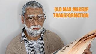 OLD AGE (OLD MAN) HALLOWEEN MAKEUP TUTORIAL / Nishi V