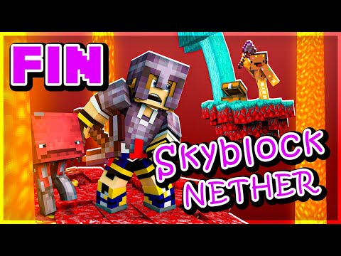 On a un peu cheaté (surtout @Ninjaxx )   Skyblock Nether #FIN
