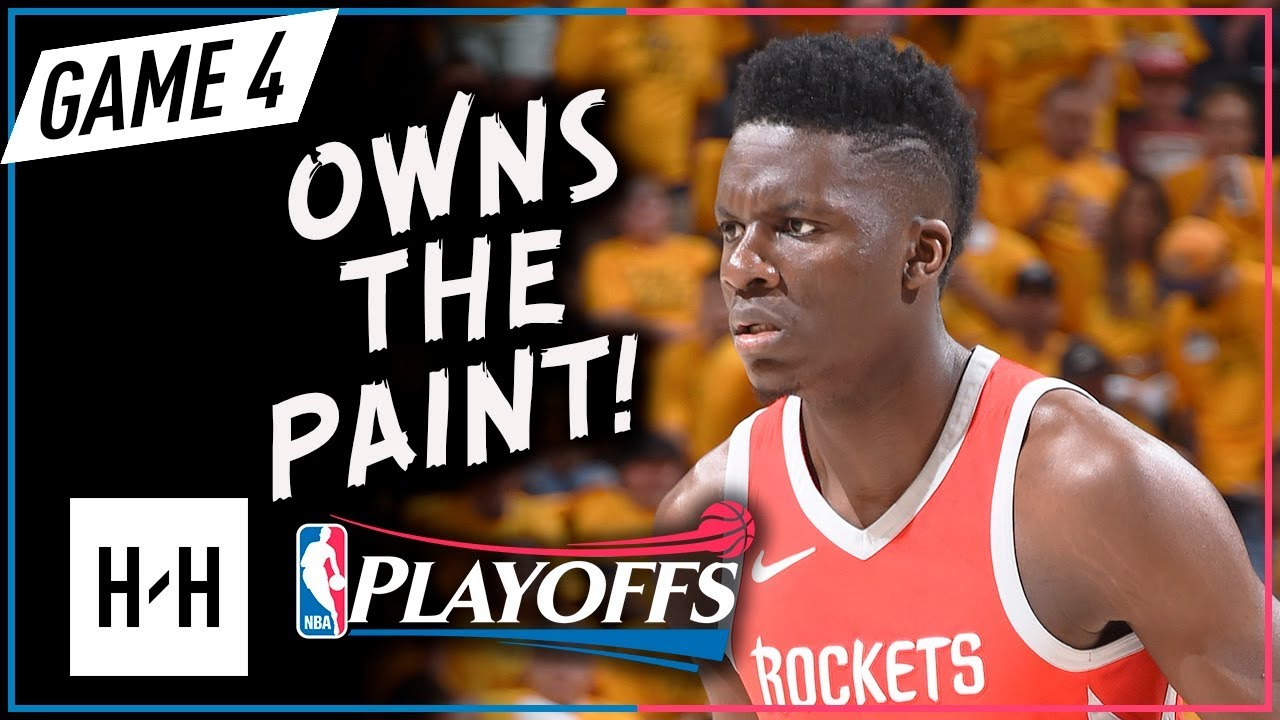 7651036c5844 Clint Capela Full Game 4 Highlights Rockets vs Jazz 2018 NBA Playoffs - 12  Pts