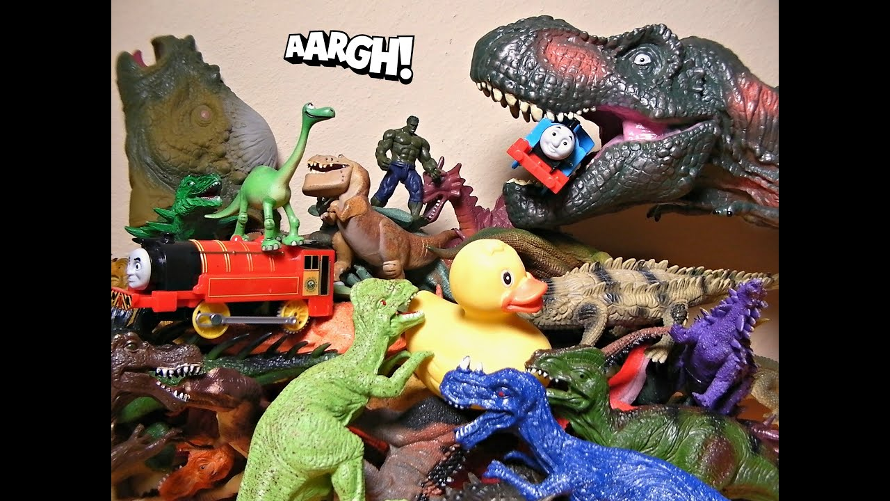 Bunch of Dinosaurs Puppets Toys Dragons Thomas Train The Good
