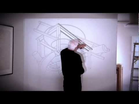 "Michael Craig-Martin's ""Drawings"": Installation Timelapse"