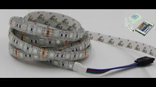Подсветка потолка. Светодиодная лента. Контролер и  пульт д/у.(Как сделать. Светодиодная лента и пульт с контролером. Лента RGB светодиоды 5050 60шт., на 1м., или 300 на 5м. Заказал..., 2016-03-20T09:49:31.000Z)