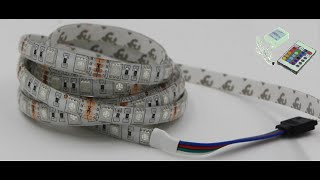Светодиодная подсветка потолка своими руками.  Светодиод. Контролер и  пульт д/у.  ceiling lights.(How To Make. Как сделать. Светодиодная лента и пульт с контролером. Лента RGB светодиоды 5050 60 шт., на 1 м., или 300 на..., 2016-03-20T09:49:31.000Z)