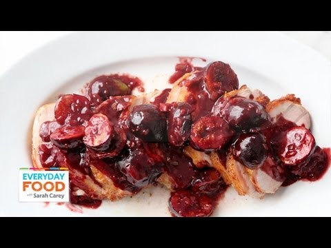 Pork Loin with Figs and Port Sauce | Everyday Food with Sarah Carey ...