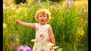Детская фотосессия на природе. Pretty little baby.